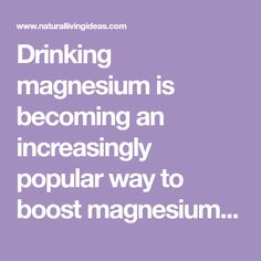Drinking magnesium is becoming an increasingly popular way to boost magnesium intake. Here's what happened when we tried it for seven days. Drinking, Science, Good Things, Popular, Shit Happens, Day, Natural, Healthy, Fitness