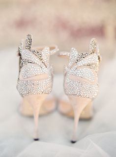 Nude wedding shoes | Sparkly beauties | Photography: Jessica Burke