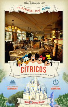 Walt Disney World Planning Pins: Enjoy American cuisine infused with Mediterranean flavors, plus an award-winning, international wine list.