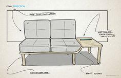 Novo | Minimalist Sofa by Brent Radewald, via Behance