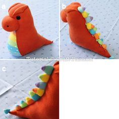 dragon made out of socks