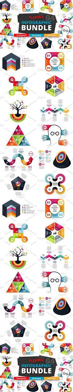 Flexible Infographic Bundle (vol.4). Presentation Templates