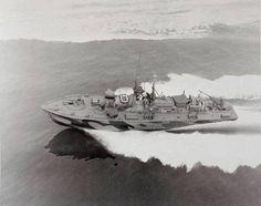 PT Boat, PT-601, underway at high speed 45