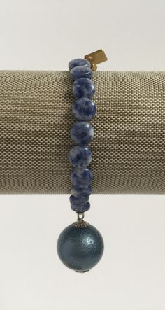 Denim Stretch - Small Denim Bauble Bracelet