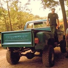 jacked up CHEVY 4x4 -- my favorite. chevy trucks, chevi 4x4, car truck, vehicl, country boys, dream, countri life, countri wide, chevi truck
