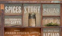 Beautiful and organic like website for Old Town Spice Shop. Design by Tenfold Collective.