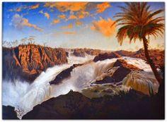Cachoeira de Paulo Afonso Germano Wahnschaffe Óleo sobre tela, 88 x 109 cm; c. 1863 http://sergiozeiger.tumblr.com/post/113619067163/clodomiro-amazonas-monteiro-taubate-14-de-marco Pouco se sabe a respeito deste artista alemão, que viveu no país de 1850 a 1870 e foi sócio do grande fotógrafo Auguste Stahl, no ateliê Stahl & Wahnschaffe, estabelecido no Rio de Janeiro em 1862. Wahnschaffe foi provavelmente apenas um colorista de retratos. Existem ao menos duas versões deste quadro. Uma…