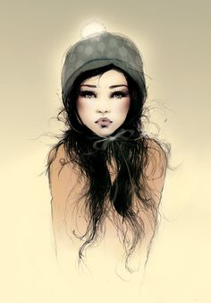 I love this peice of art, her expression...