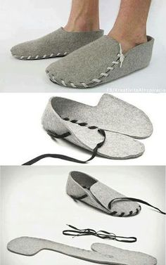 Diy Diy shoes shoesforwomen diy decor dresses fashion moda homedecor home hairstyles hair women womensfashion outfits outdoor wedding recipes sports sporty The post Diy appeared first on Best Of Likes Share.I tried this out to make guest slippers. Women's Shoes, Baby Shoes, Felt Shoes, Shoes Men, Felted Slippers, Sewing Slippers, Leather Slippers, Shoe Pattern, Buy Shoes Online