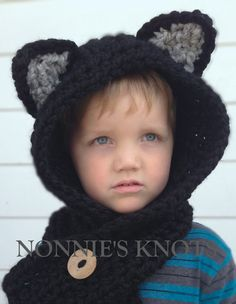 Crochet Pattern  Callie Cat Scoodie  Toddler Child by NonniesKnots, $5.00