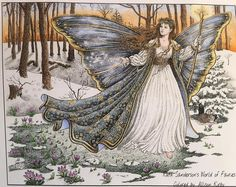 My spring fairy from Ruth Sanderson's World of Fairies! This lovely book is available directly from the artist. Colored with Polys and Wink of Stella (which you can't really see). @ruth_sanderson #worldoffairies