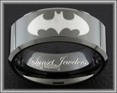 Black Tungsten Batman Ring Mens Wedding Rings Superhero Band - David, time to return your ring!