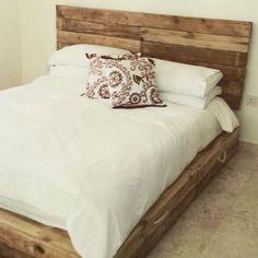 Handmade Rustic Pallet bed
