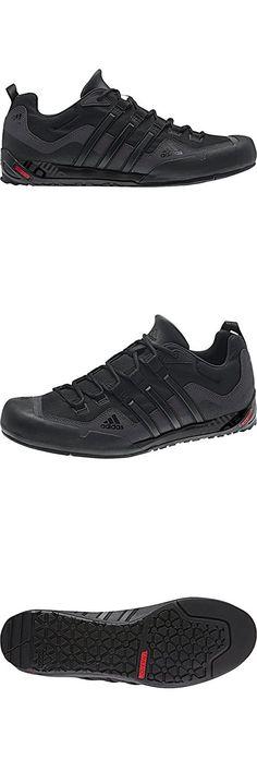 hot sale online a08da fd3a2 Adidas Outdoor Terrex Swift Solo Approach Shoe - Men s Black Black Lead 9.5