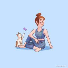 9 ejercicios que eliminan el dolor lumbar Knowledge Doctor Yoga Cartoon, Pilates Body, Yoga Lessons, Back Pain Exercises, Chair Yoga, Pilates Studio, Yoga Art, Low Back Pain, Yoga Videos