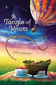 A Tangle of Knots by Lisa Graff | Destiny leads 11-year-old Cady to a peanut butter factory, a family of children searching for their own Talents, and a Talent Thief who will alter her life forever. Includes cake recipes.