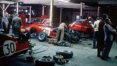 NART and factory Ferrari garage, 1963 Sebring 12 Hours