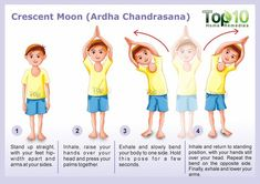 crescent moon yoga pose - 10 Amazing Yoga Poses for Your Kids to Keep Them Fit and Healthy Yoga For Kids, Exercise For Kids, Kids Workout, 4 Kids, Preschool Yoga, Yoga Studio Home, Partner Yoga Poses, Childrens Yoga, Top 10 Home Remedies