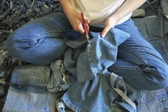 Interesting ways to reuse your denim