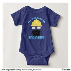 Baby bodysuits funny. Cute engineer baby. #babyclothes #job #engineering #mommyandme