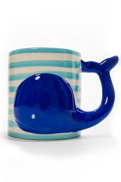 . - Gardening Aisle Clay Mugs, Blue Whale, Kitchenware, Preppy, Whales, Cups, Baleen Whales, Preppy Fashion, Mugs