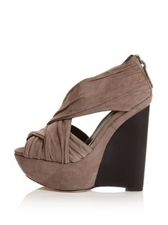 taupe suede wedges from joe's jeans shoes
