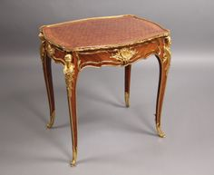 A Very Fine Late 19th Century Louis XV Style Gilt Bronze Mounted Lamp Table  By François Linke