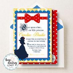 Snow White Invitation - Snow White Birthday Party Invitation - Snow White Party Invitation - Snow White Birthday Invitation - Printable