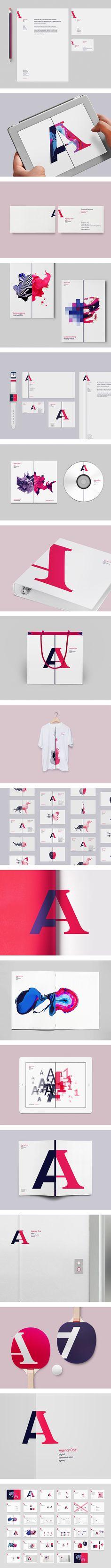 Agency One Identity by Vova Lifinov. 15 Striking Examples of Identity.