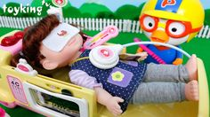 [Video Content] Ambulance, Baby doll Doctor Pororo - Toys and play hospi...