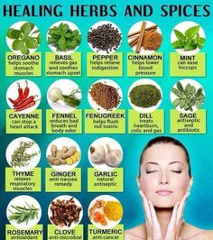 Health Remedies Healing herbs and spices - We always hear about different types of food that can help you to be healthy, to lose weight and to Herbs For Health, Healthy Herbs, Healthy Life, Happy Healthy, Healthy Foods, Healthy Living, Natural Health Remedies, Herbal Remedies, Natural Medicine