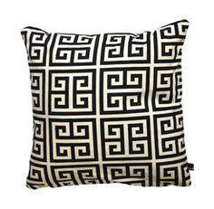 cushion, cushion cover, geometric, blackandwhite, 50 x 50 cm, cotton, by kissenk�nigin