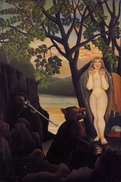 Nude and Bear, 1901			Henri Rousseau