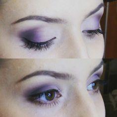 Bridal makeup. Purple wedding
