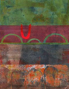 Michèle Brown Artist - The Old Cells Studio: collage painting 2