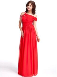 Evening Dresses - $162.99 - A-Line/Princess Off-the-Shoulder Floor-Length Chiffon Evening Dress With Ruffle Beading  http://www.dressfirst.com/A-Line-Princess-Off-The-Shoulder-Floor-Length-Chiffon-Evening-Dress-With-Ruffle-Beading-017026232-g26232