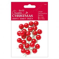 Papermania Large Decorative Berries (24pk) - Red Crafts To Do, Berries, Red, Christmas, Decor, Xmas, Decoration, Bury, Weihnachten