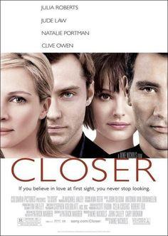 Closer (2004) Mike Nichols con Julia Roberts, Clive Owen, Natalie Portman, y Jude Law