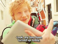 Can we please take a second to love Ed?! This is why I love Ed. (gif.)