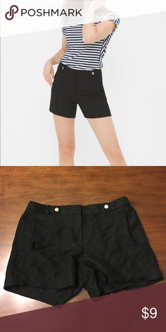 "WHBM black linen blend shorts White House Black Market black linen blend shorts. Size 10. Worn and washed one time. Approx. 5""in seam. White House Black Market Shorts"