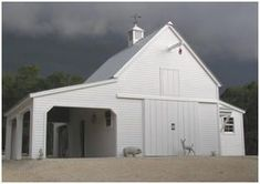 The sturdy Maple Pole-Barn was built to stand up to Texas Hill Country storms. It's one of sixteen different layouts that you can build from one $59.00 plan set by architect Don Berg