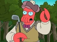 Zoidberg AND Golf? Perfection.
