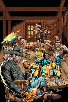 Booster Gold and Jonah Hex by Dan Jurgens