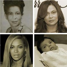 4 generations Beyonce, Blue IVy, Tina Knowles, and Beyonce's Grandmother… Beyonce Family, Beyonce Fans, Beyonce And Jay Z, Celebrity Kids, Celebrity Pictures, Jay Z Mother, Tina Knowles, Blue Ivy Carter, Pretty Hurts