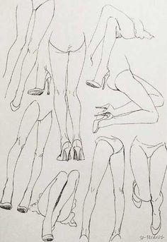 33楼の庚先生采集到【绘画资料一】人体结构、角度(249图)_花瓣插画