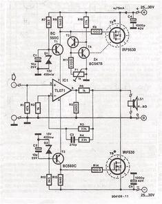70 Watt MOSFET Audio Amplifier Circuit