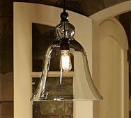 Rustic Glass Pendant - Small | Pottery Barn