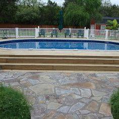 Semi Inground Pool Landscaping Ideas Swimming Pool Decks
