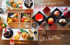 『新年*2014年のおせちとテーブルコーディネート』