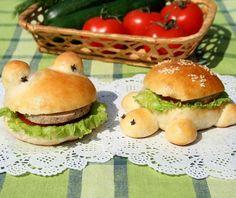 recette sandwich pour le goûter d'anniversaire - hamburgers en forme de tortue…